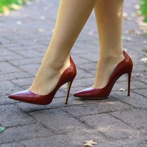 M. Gemi Red Leather Pumps